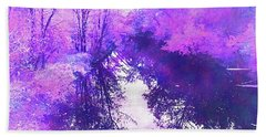 Ethereal Water Color Blossom Beach Towel