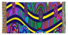 Ethnic Wedding Decorations Abstract Usring Fabrics Ribbons Graphic Elements Beach Towel by Navin Joshi