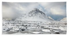 Etive Mor Winter Beach Towel