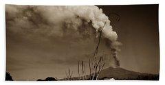 Etna, The Volcano Beach Towel