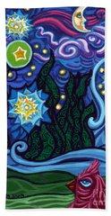 Etoile Noire Bleu Beach Sheet