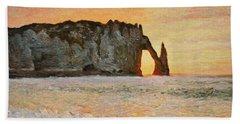 Etretat, Sunset  Beach Towel
