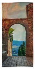 Beach Towel featuring the photograph Etruscan Arch by Hanny Heim