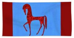 Etruscan Horse #2 Beach Sheet