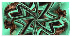 Beach Towel featuring the digital art Eucalyptus Swirl by Kathy Kelly