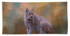 Eurasian Lynx Wildlife Beach Towel