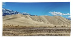 Beach Towel featuring the photograph Eureka Dunes - Death Valley by Peter Tellone