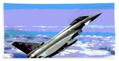 Eurofighter Typhoon Beach Towel by Charles Shoup