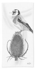 European Goldfinch Beach Sheet