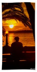Beach Towel featuring the photograph Eustis Sunset by Christopher Holmes