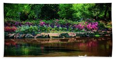 Eutopia At The Muskogee Azalea Festival Beach Towel by Tamyra Ayles