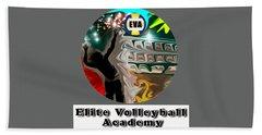 Beach Sheet featuring the digital art Eva Logo by Darren Cannell