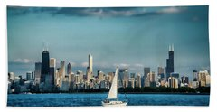 Evan's Chicago Skyline  Beach Towel