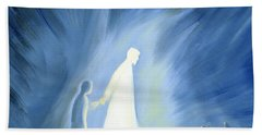Even In The Darkness Of Out Sufferings Jesus Is Close To Us Beach Towel