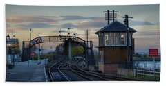 Evening At Bo'ness Station Beach Towel
