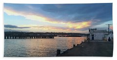 Beach Towel featuring the photograph Evening At The Bay by Nareeta Martin
