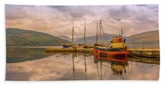 Evening At The Dock Beach Towel by Roy McPeak