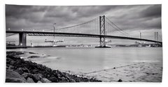 Evening At The Forth Road Bridges Beach Towel