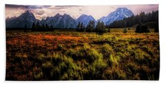 Evening At The Grand Tetons  ... Beach Towel