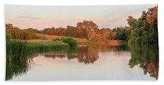 Beach Towel featuring the photograph Evening At The Lake by David Chandler