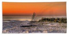 Evening Beach Glow  Beach Towel