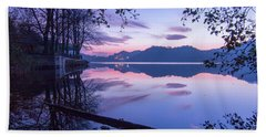 Evening By The Lake Beach Towel