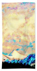 Evening Clouds Dispersing Over Sheep's Head Peak Beach Towel by Anastasia Savage Ealy