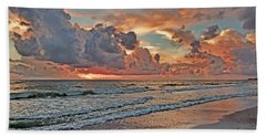 Evening Clouds Beach Sheet by HH Photography of Florida