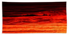 Beach Towel featuring the photograph Evening Clouds by William Selander