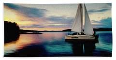 Evening Colors Beach Towel by Vladimir Kholostykh