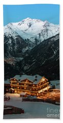 Evening Comes In Courchevel Beach Towel