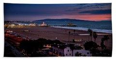 Evening Glow On The Pier Beach Towel