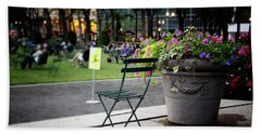 Evening In Bryant Park- Photography By Linda Woods Beach Towel