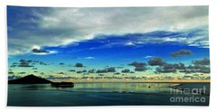 Beach Towel featuring the photograph Evening In Paradise Panoramic by Sue Melvin