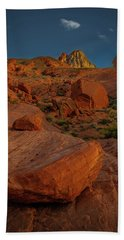 Evening In The Valley Of Fire Beach Towel