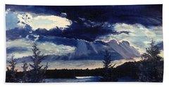 Evening Lake Beach Towel by Steve Karol