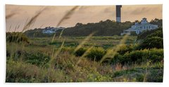 Beach Towel featuring the photograph Evening Light Sullivan's Island by Donnie Whitaker