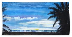 Beach Sheet featuring the painting Tropical Evening by Mary Ellen Frazee