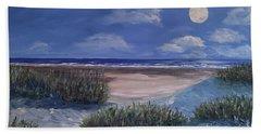 Evening Moon Beach Towel