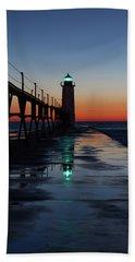 Evening On Lake Michigan Beach Towel
