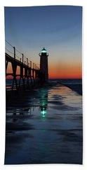 Evening On Lake Michigan Beach Towel