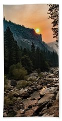 Evening On The Merced River Beach Towel