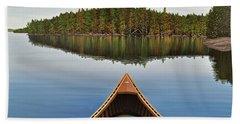 Evening Paddle  Beach Sheet by Kenneth M  Kirsch