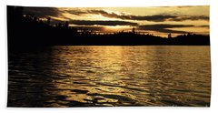 Evening Paddle On Amoeber Lake Beach Towel by Larry Ricker