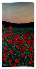 Evening Poppies Beach Sheet