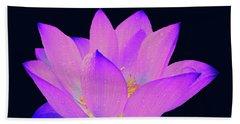 Evening Purple Lotus  Beach Sheet