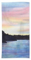 Evening Silhouette Beach Sheet