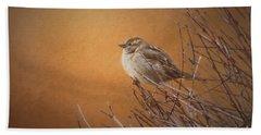 Evening Sparrow Song Beach Towel