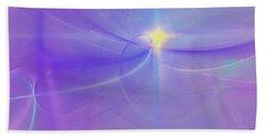 Beach Towel featuring the digital art Evening Star by Victoria Harrington