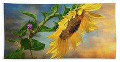 Evening Sunflower Beach Towel